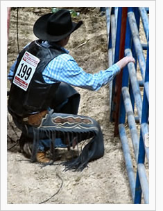 Behind the chutes